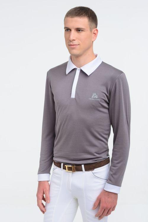 Cavalliera Men's Gentleman Long Sleeve Show Shirt - Grey
