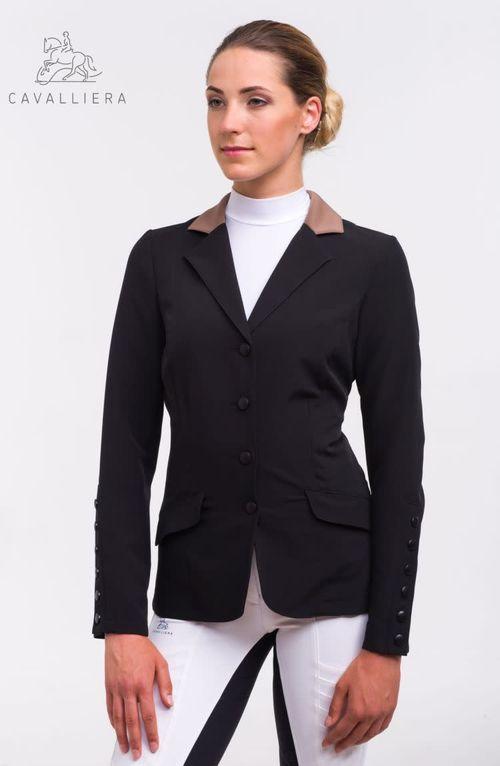 Cavalliera Women's Class Show Jacket - Black/Cappuccino