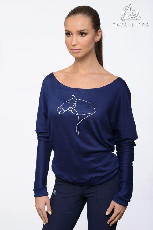 Cavalliera Women's Lyna Long Sleeve Shirt - Navy Blue