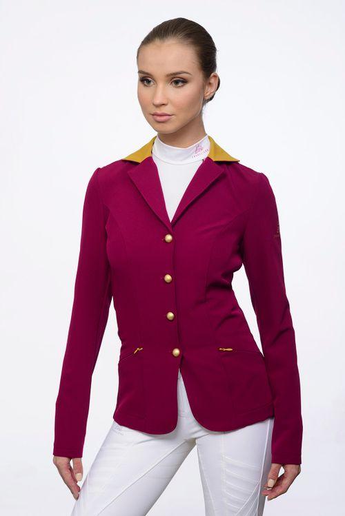 Cavalliera Women's Top of the World Show Jacket - Bordeaux/Ocher