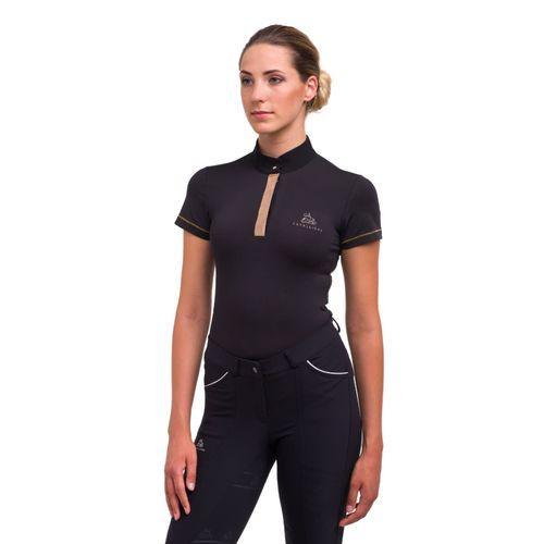 Cavalliera Women's Rose Gold Short Sleeve Top - Black