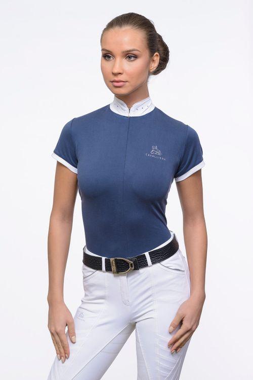 Cavalliera Women's Stella Short Sleeve Show Shirt - Pigeon Blue (((16837))) <<<en-US>>>