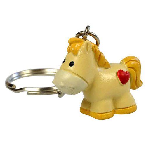 Kelley and Company 3D Heart Horse Keychain - Palomino