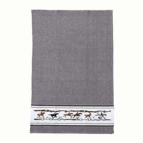Kelley and Company Jumping Horse Kitchen Towel - Grey