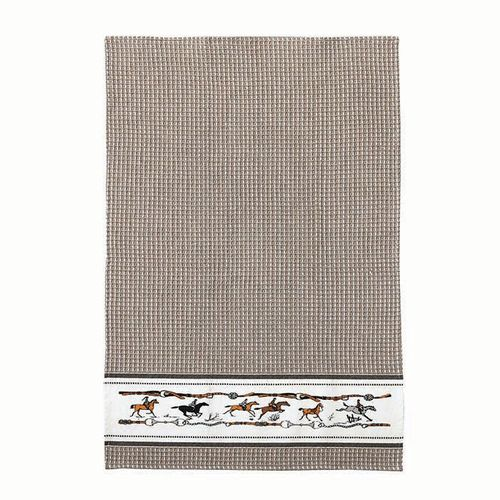 Kelley and Company Jumping Horse Kitchen Towel - Beige