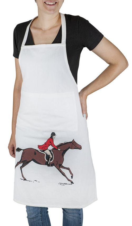 TuffRider Equestrian Themed Apron - Fox Hunting