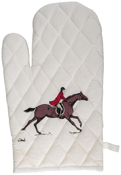 TuffRider Equestrian Themed Oven Mitts - Fox Hunting