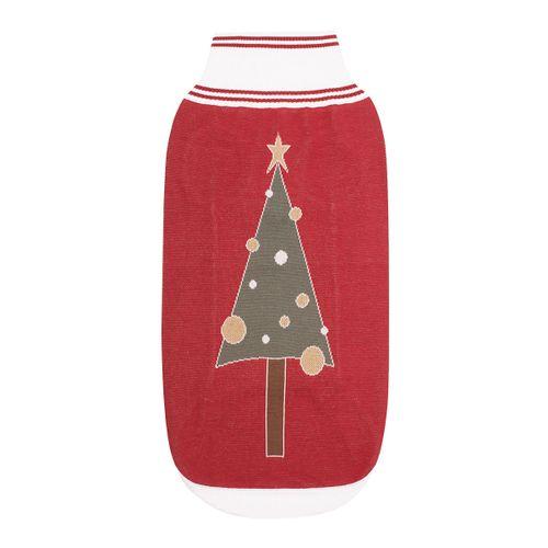 Halo Christmas Tree Dog Sweater - EC Red