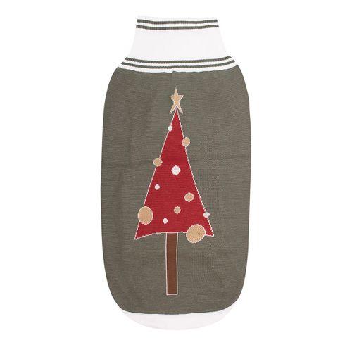 Halo Christmas Tree Dog Sweater - Duck Green