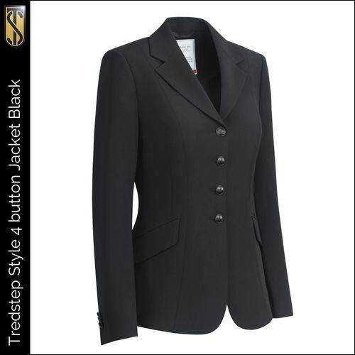 Tredstep Women's Symphony Style 4 Button Competition Jacket - Black (((18040))) <<<en-US>>>