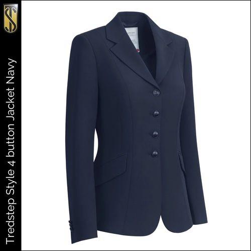 Tredstep Women's Symphony Style 4 Button Competition Jacket - Navy (((18041))) <<<en-US>>>