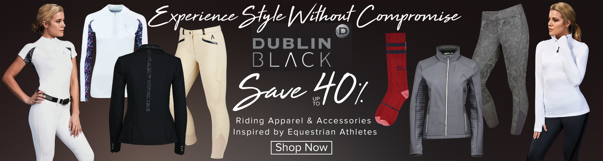Save up to 40% on Dublin Black Riding Apparel
